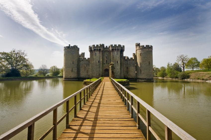 Bodiam Castle, East Sussex, England taken in May.