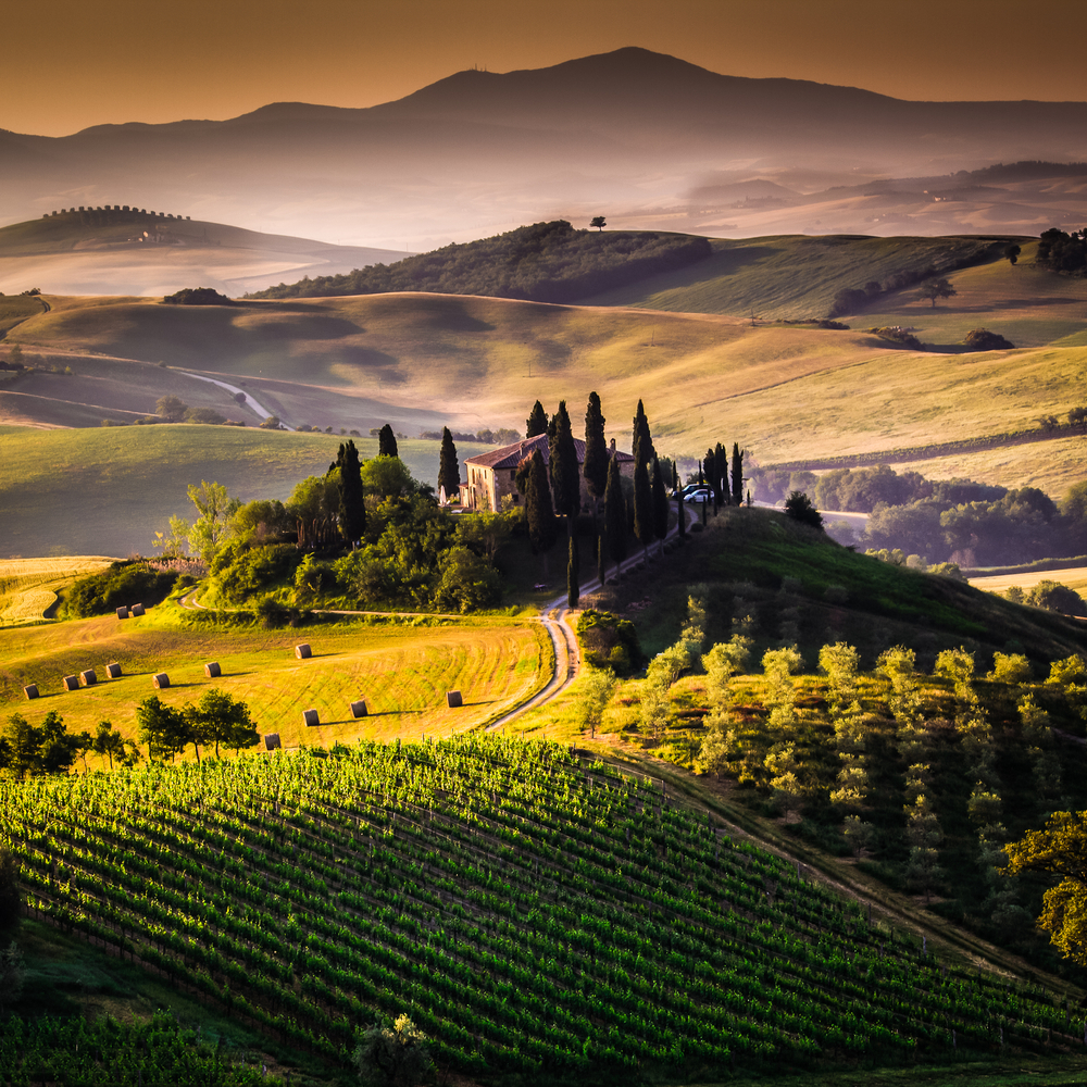 Image of breathtaking landscapes in Tuscany, Italy