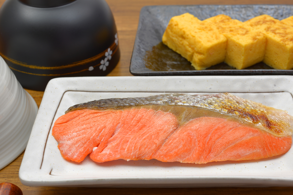 Tradational Japanese dish - Broil with salt of salmon