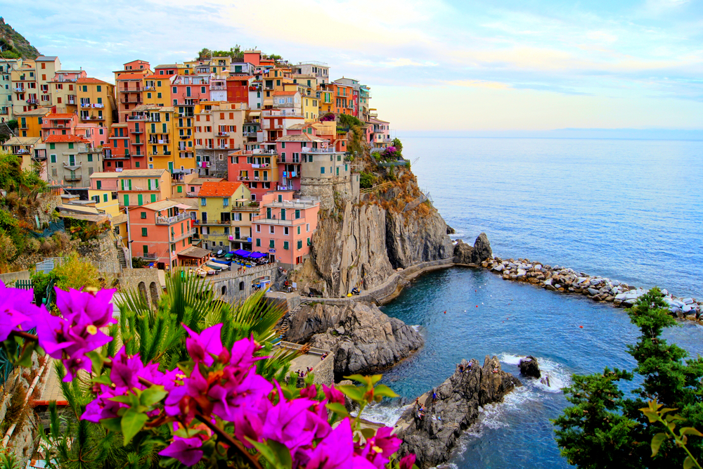 The Village of Manarola in Cinque Terre, Italy.