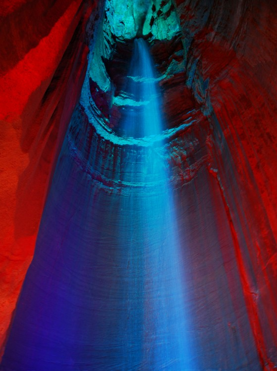 The Ruby Falls in Tennessee, USA