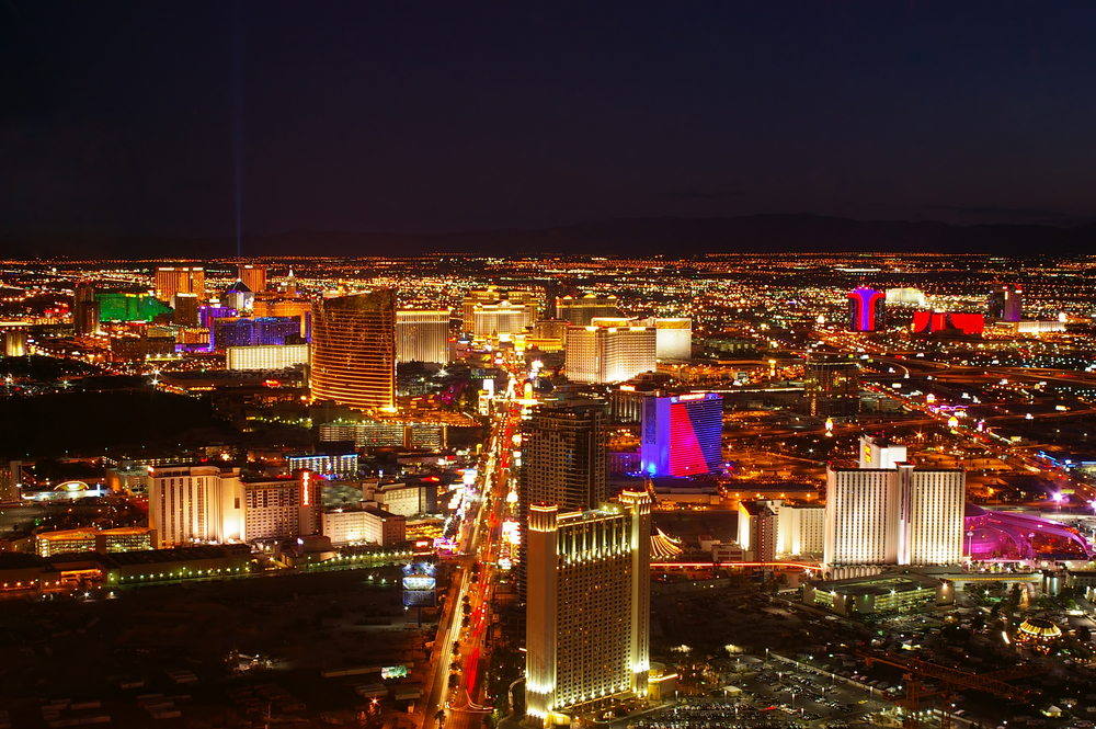 The north side of the Las Vegas strip.