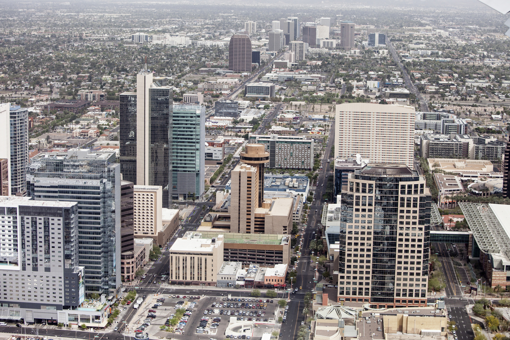 Phoenix downtown area