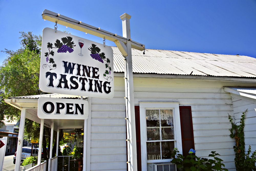 Wine tasting in Amador County.