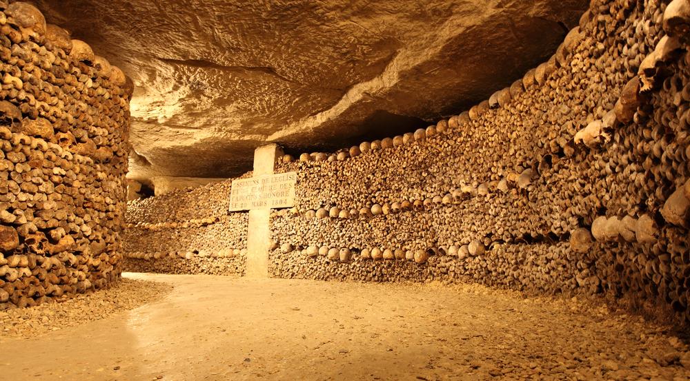 Paris Catacombs.