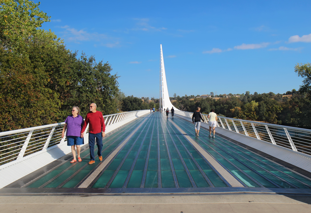 Sundial Bridge, Redding, California.