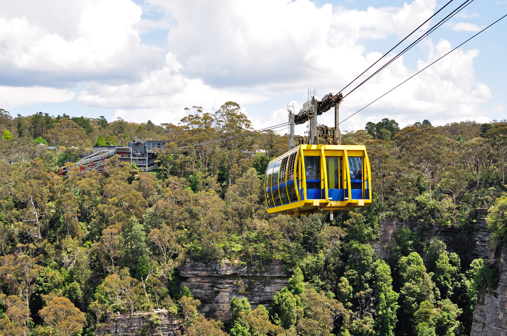 Scenic cable in Blue Mountains National Park, Sydney