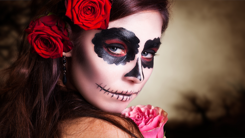 Woman at Wahaca's Day of the Dead Festival