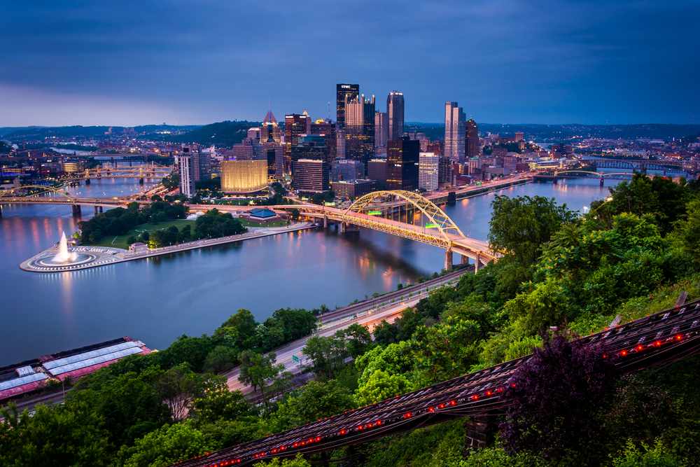 View from Mount Washington in Pittsburgh