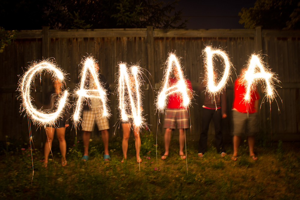 Canada word spelled out