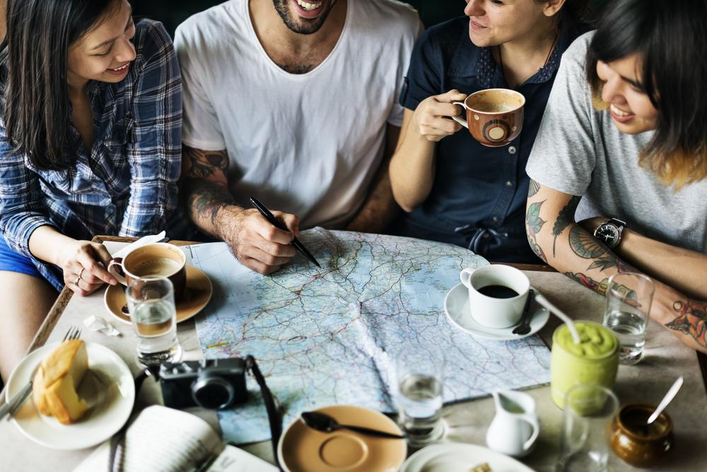 Friends planning map