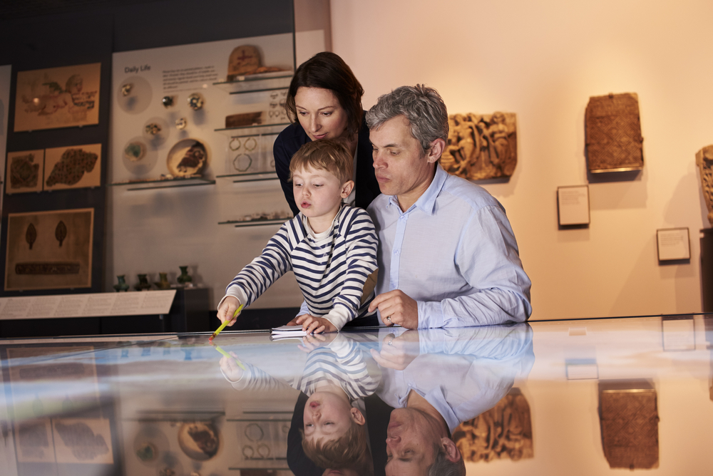 Family at museum